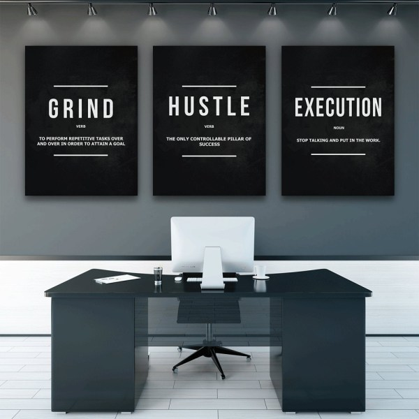 This image has an empty alt attribute; its file name is Grind-Hustle-Execution-Wall-Art-Canvas-Prints-Office-Decor-Motivational-Modern-Art-Entrepreneur-Motivation-Painting-Pictures-6.jpg